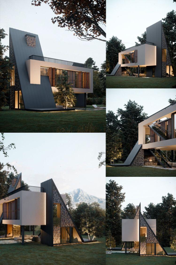 Modern house: Ararat Villa in Maku, Iran designed