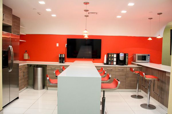 Reception Area Of New York City Office Space Rental Center