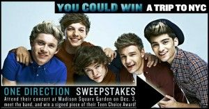 Enter the parade one direction sweepstake and you could win enter the parade one direction sweepstake and you could win three tickets to the m4hsunfo