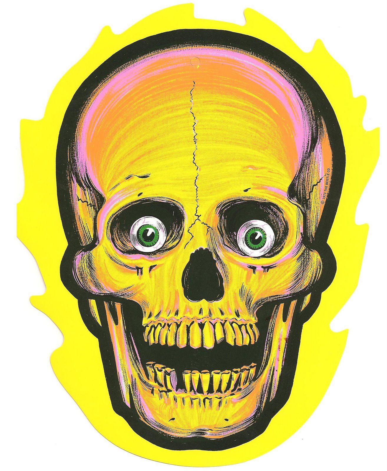 Halloween skull decorations - Find This Pin And More On Die Cut Decorations We Had This Halloween Skull