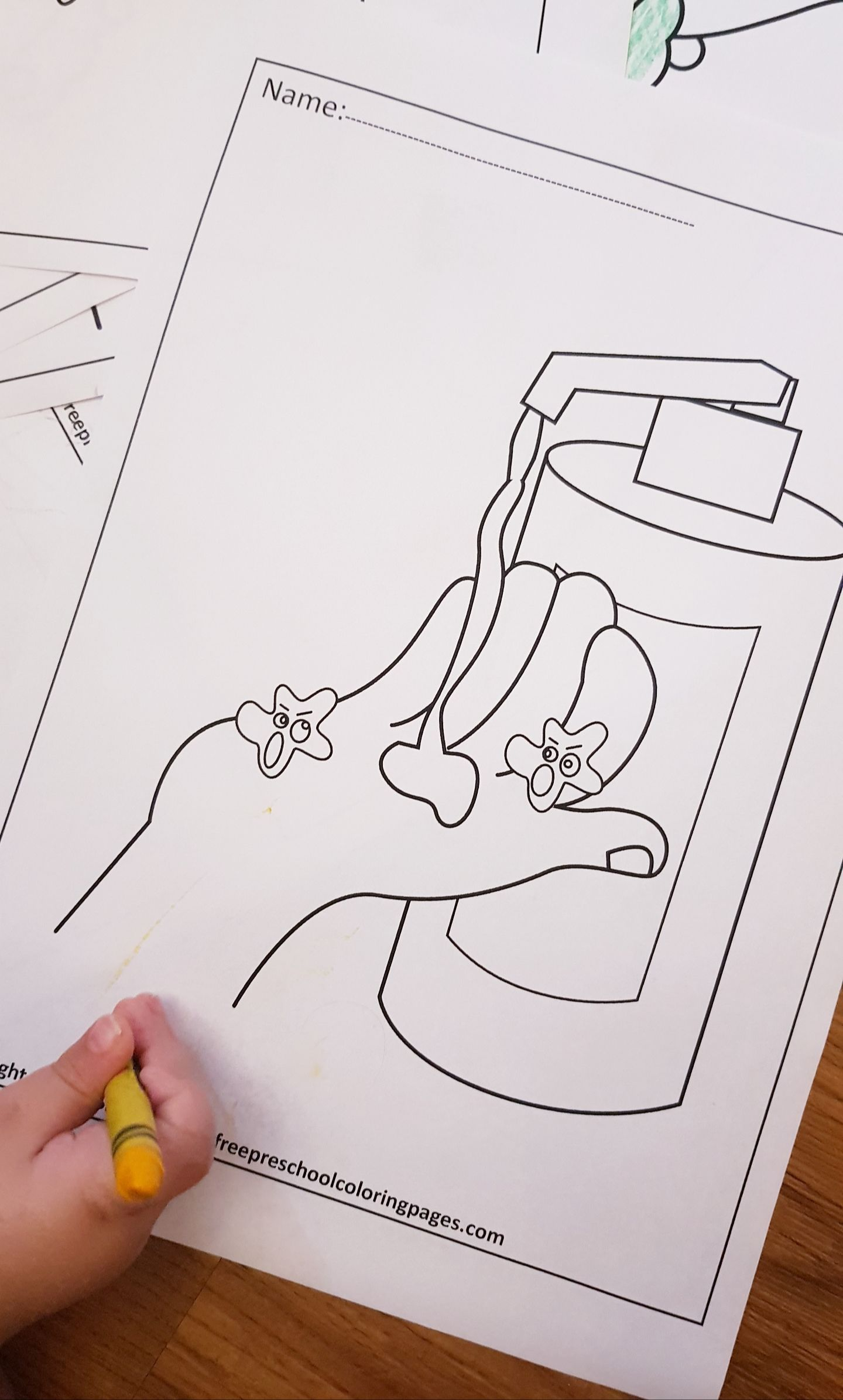 Pin On Hand Washing Coloring Pages