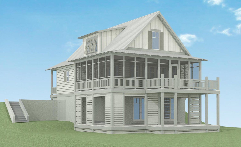 Flora Retreat Lake Land Studio Basement House Plans Coastal House Plans House On Stilts