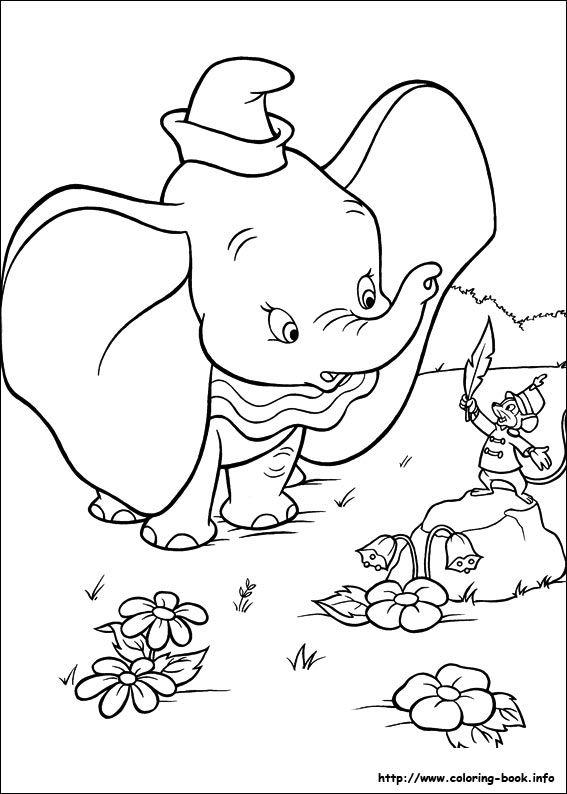 Dumbo coloring picture   Desenhos, Desenhos p pintar ...