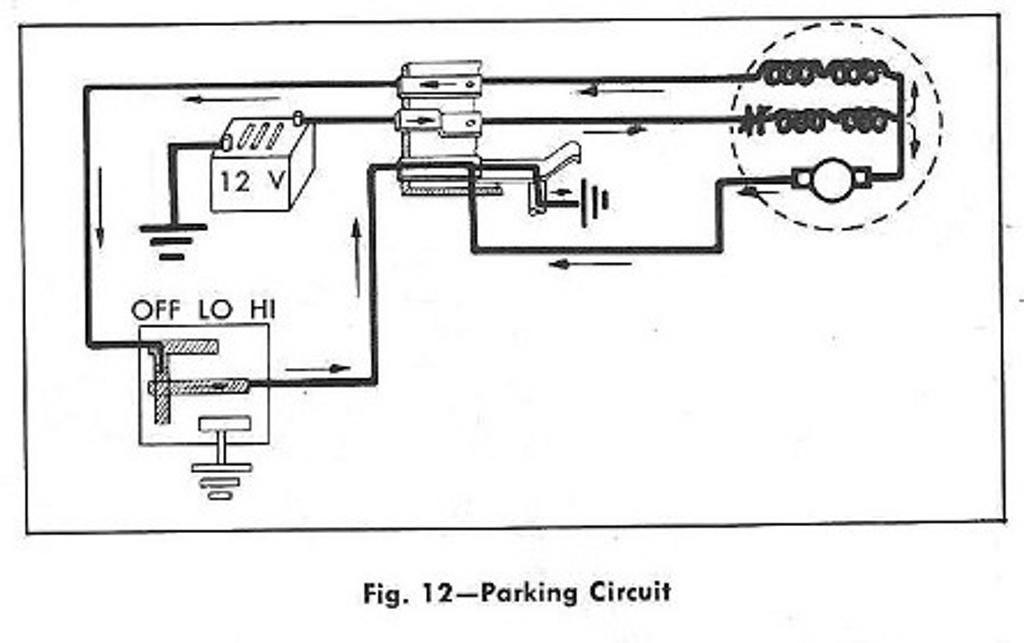 parking windshield wiper circuit diagram for the 1961