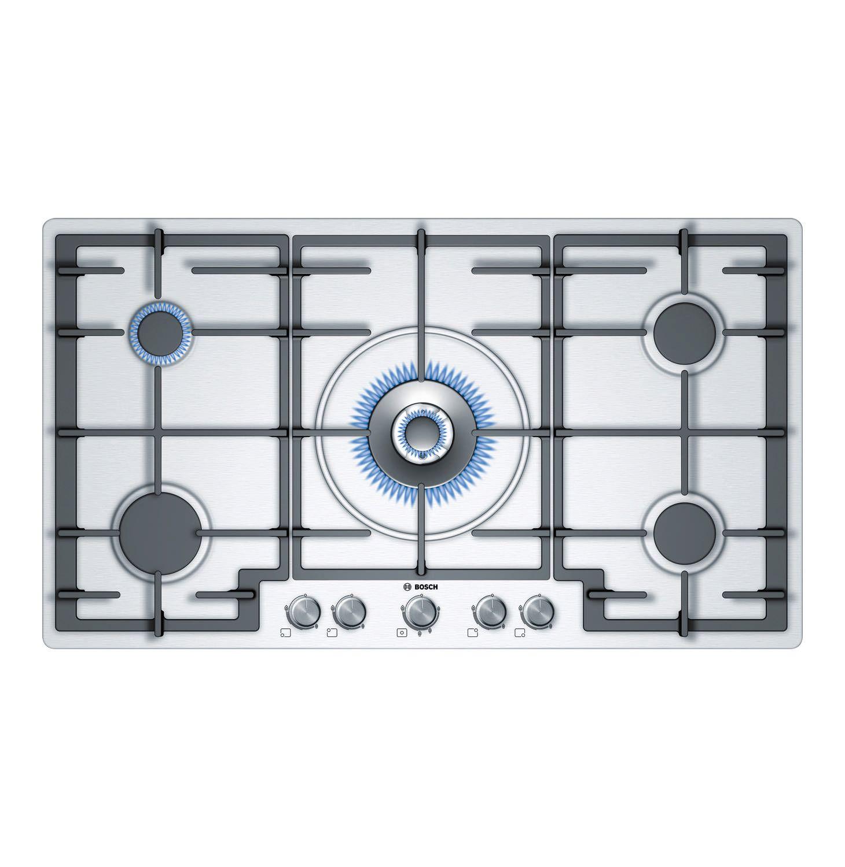 Bosch 5 Burner Gas Hob Makro Online Gas Hob Hobs Gas Cooktop