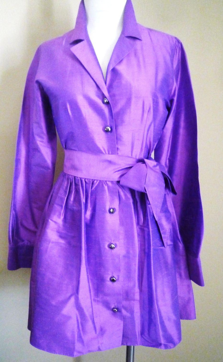 Vintage s retro s vintage style cynthia rowley silk dress size