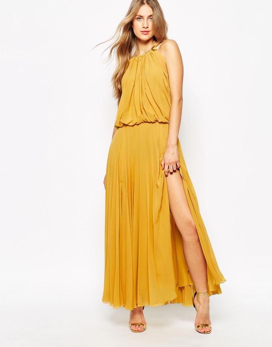 Mango Pleated S Glamour Maxi Dress prom dresses Pinterest