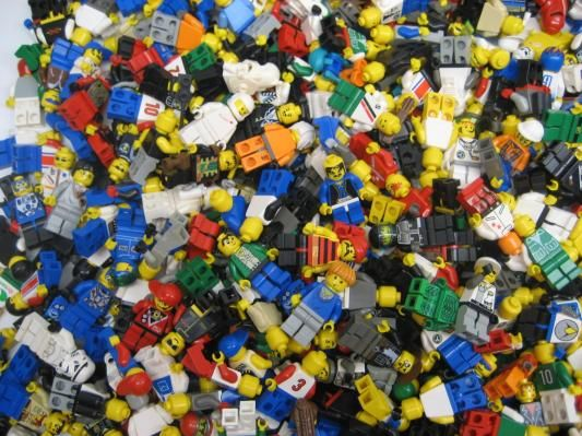 (5)+Five+LEGO+MINIFIGURE+MISC+FIGURE---5--MISCELLANEOUS+CITY+TOWN