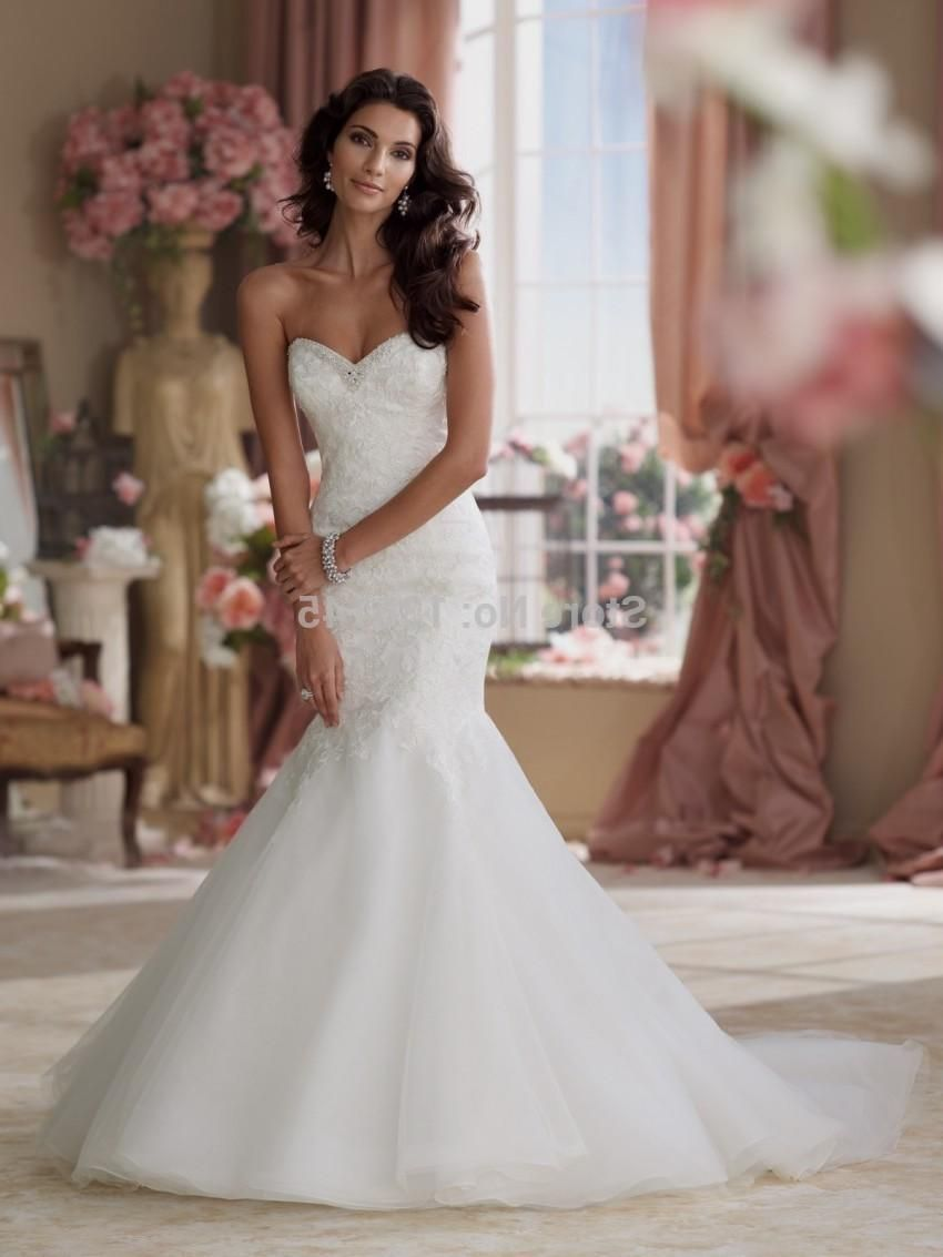 Wedding Dresses Sweetheart Neckline Mermaid Style With Bling Re
