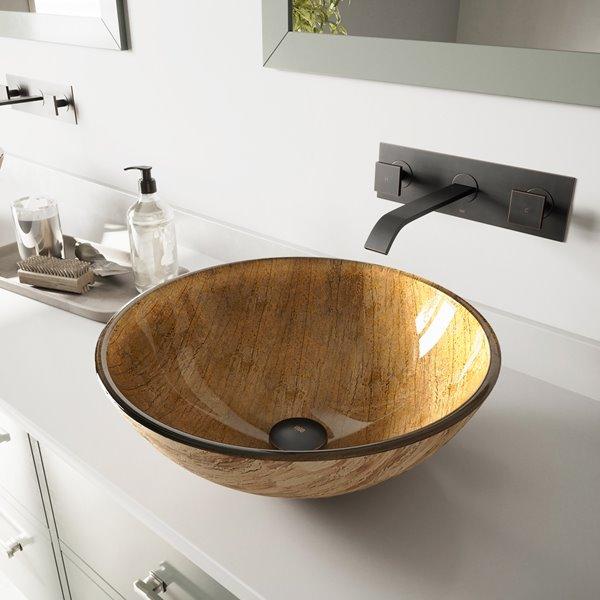 Gl Vessel Drop In Bathroom Sink