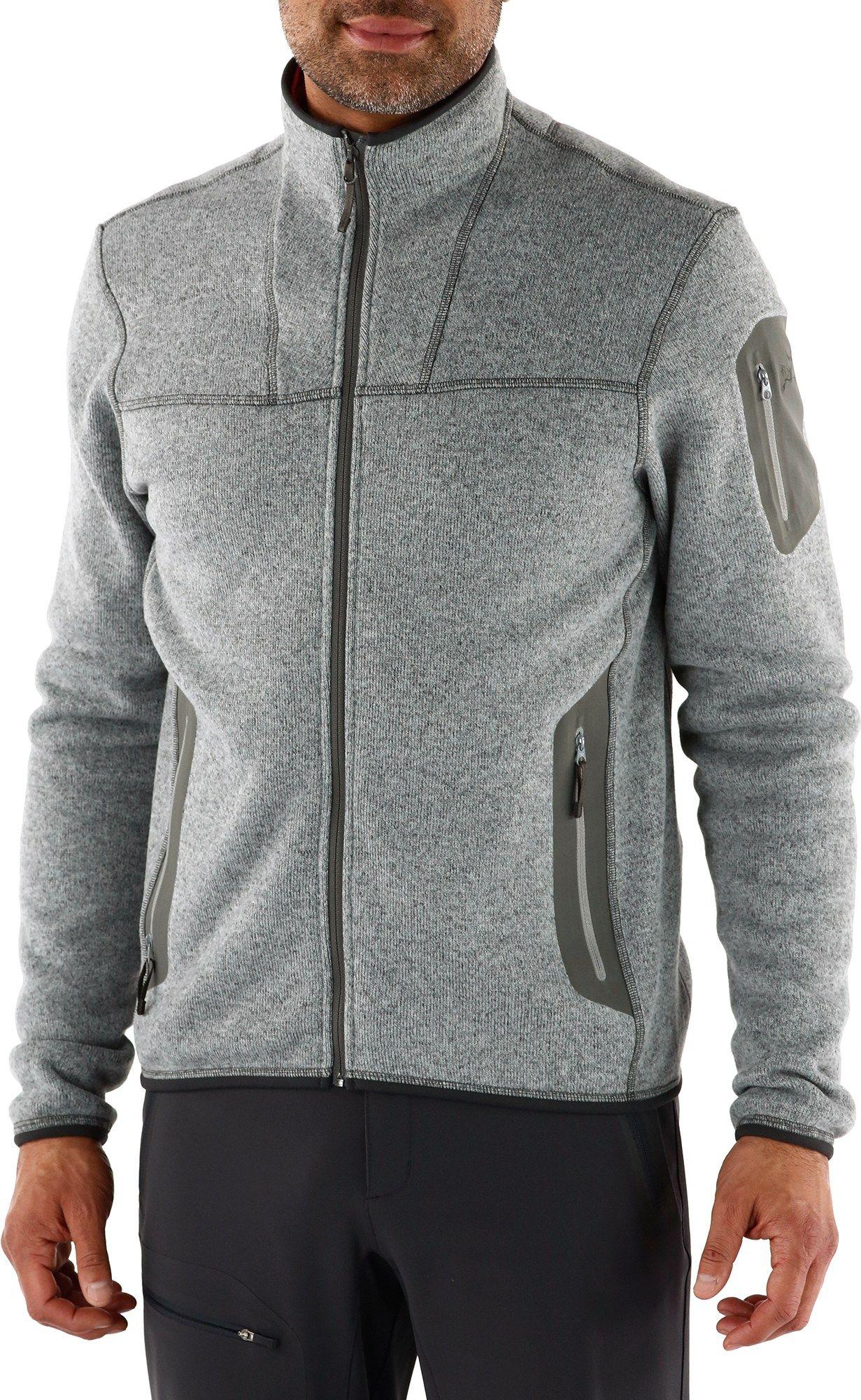Arcuteryx male covert cardigan fleece jacket menus fashion