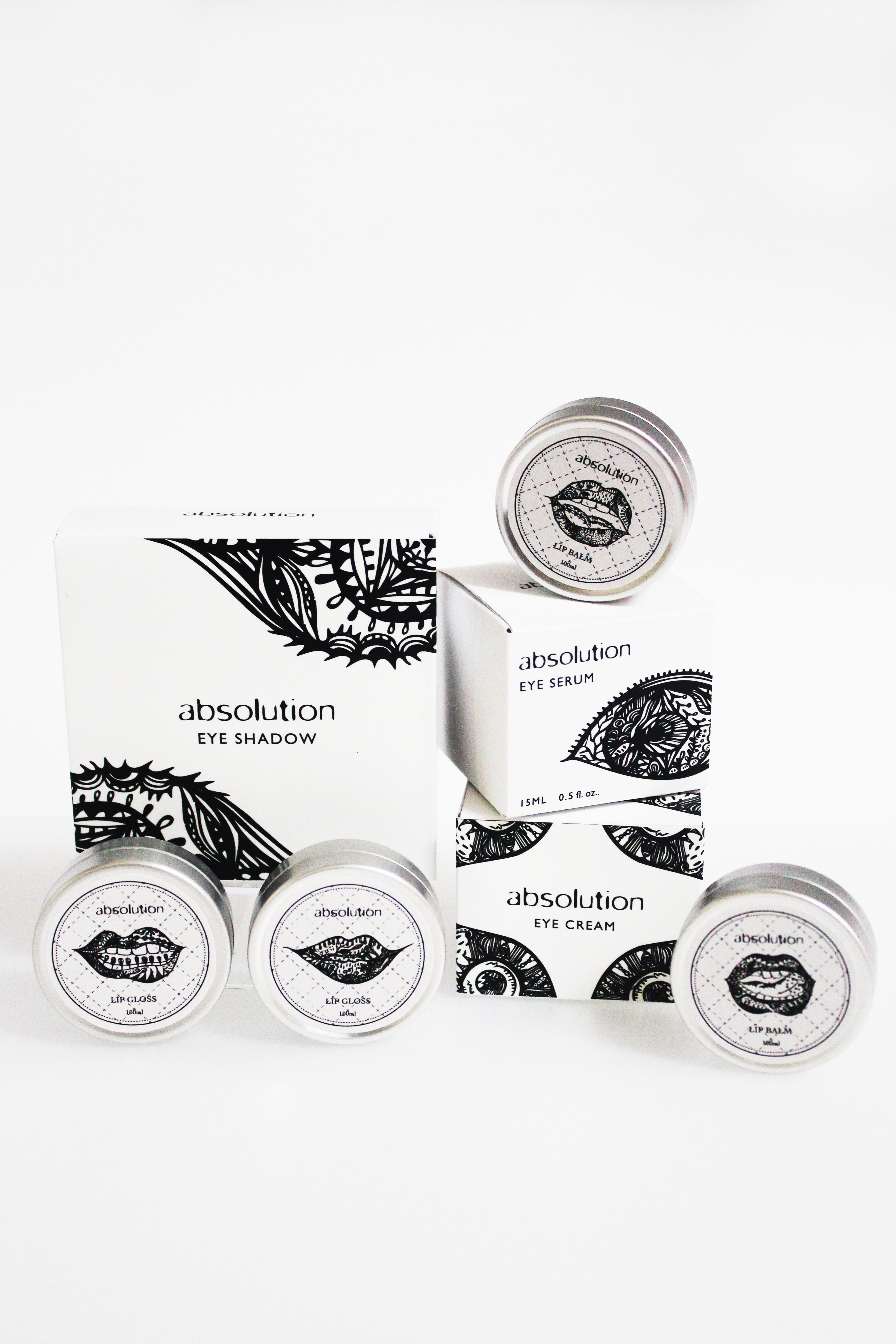 cosmetics packaging design Absolution Cosmetic