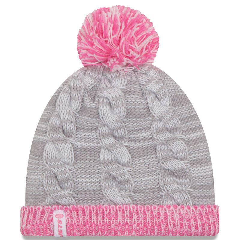 8f1ec26312c New York Jets New Era Girls Toddler Snug Cuffed Knit Hat - Gray Pink ...