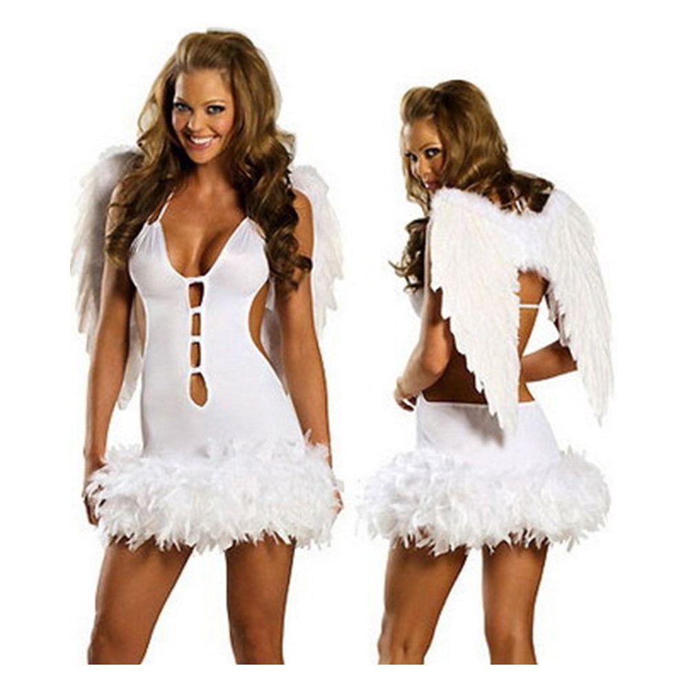 Halloween Fancy Dress Angel Halo /& Wings White Black Evil Good Hen Party Prop