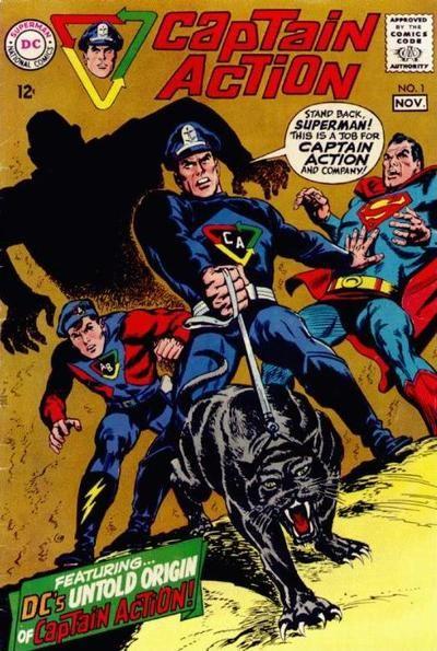 STAND BACK SUPERMAN! THIS IS A JOB FOR -- CAPTAIN ACTION !!! http://beachbumcomics.blogspot.com/