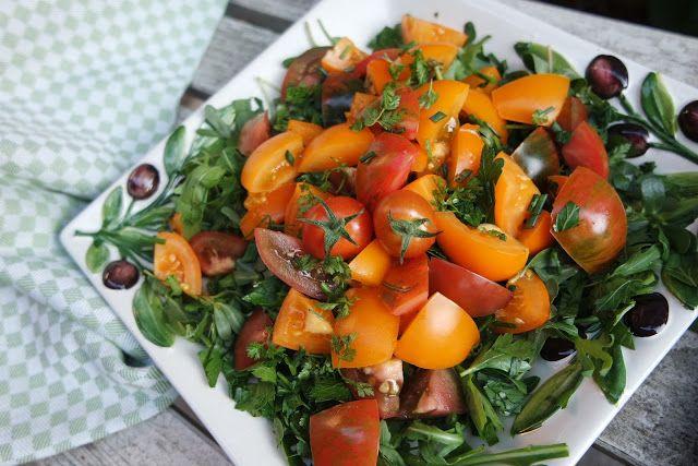 Filines Testblog: Es wird gegrillt, dazu bunter Kräutersalat mit Tom...