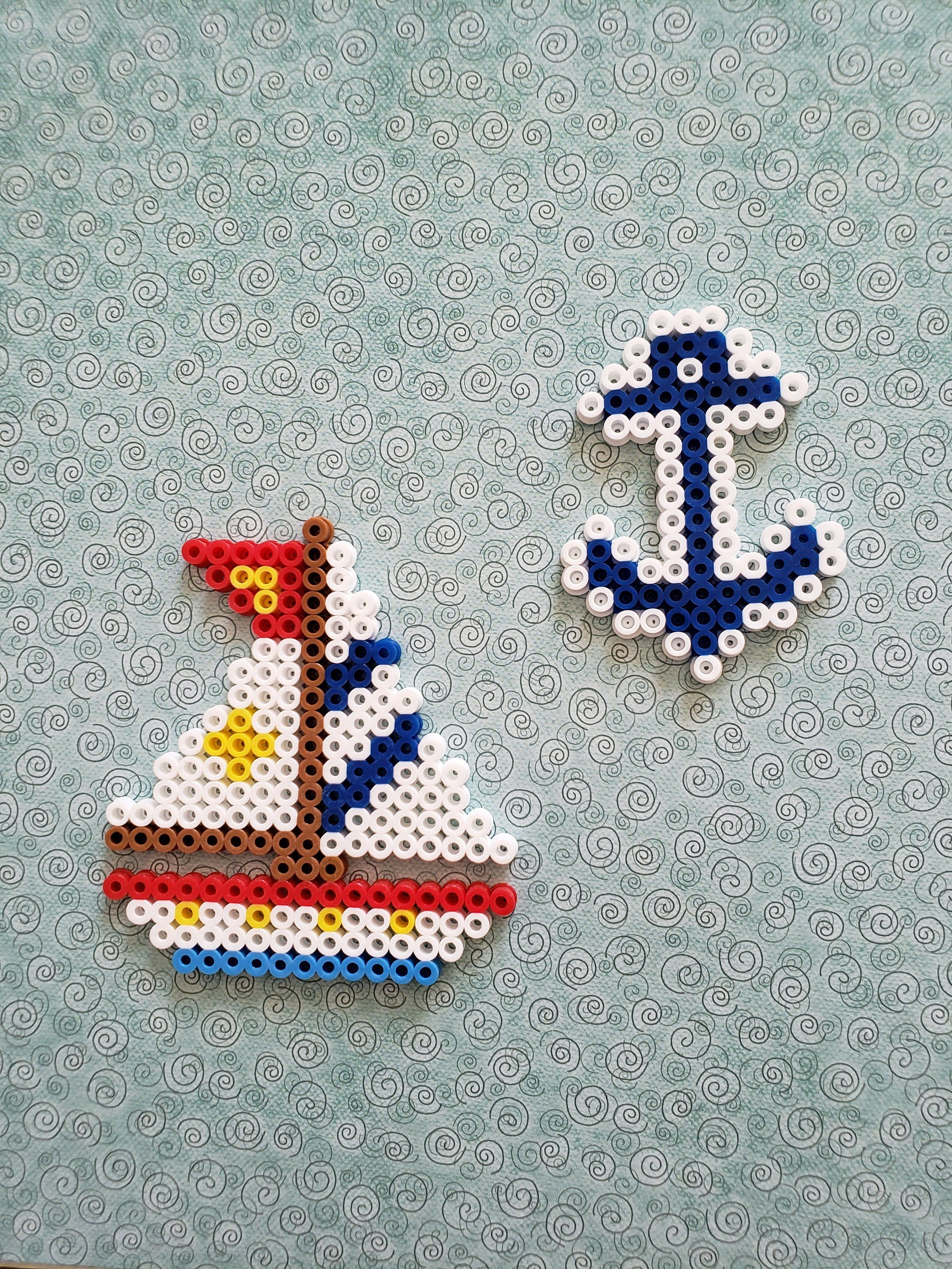 Photo of Nautical Themed Perler Bead Decoration