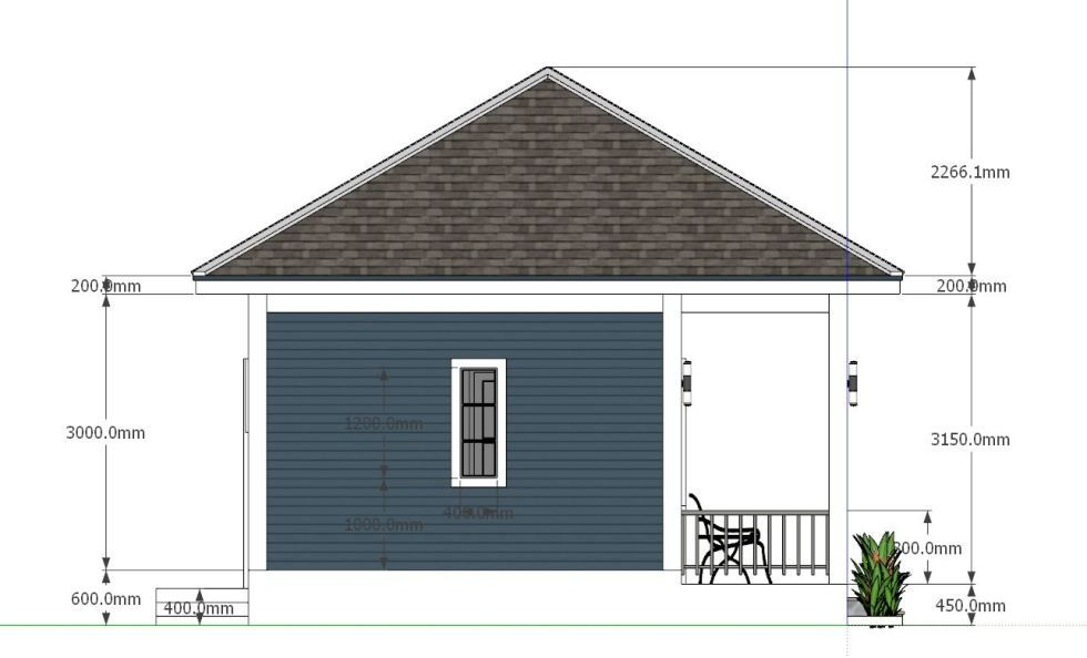 House Plans 8x6 5 With One Bedrooms Hip Roof Houseplanidea In 2020 House Plans Hip Roof My House Plans