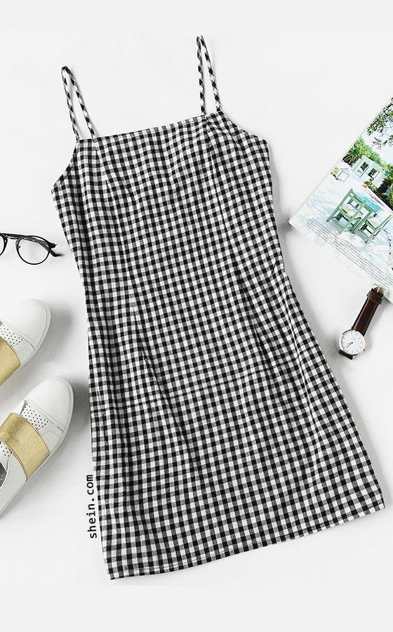 Gingham Print Cami Dress Clothes Cami Dress Outfits