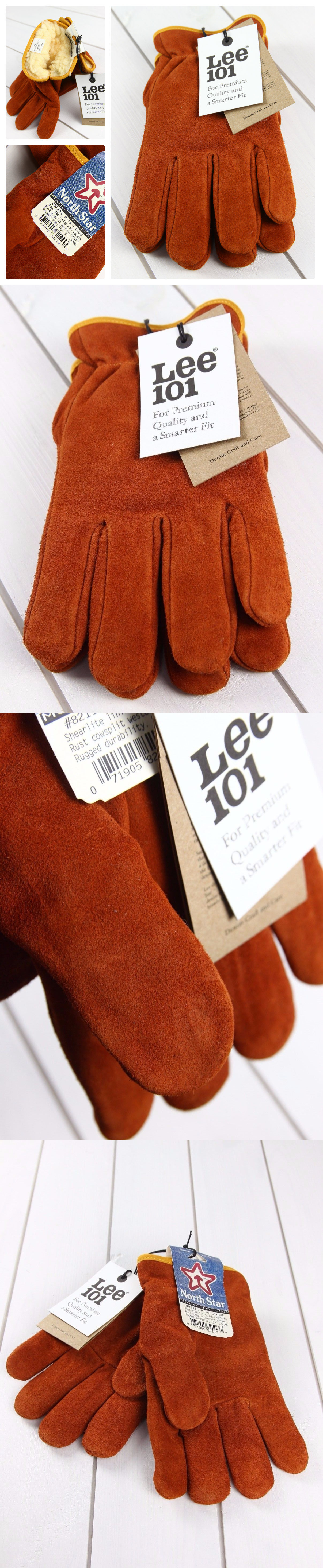 63529e11d7d0 Gloves and Mittens 2994  New Lee 101 And North Star Made In Usa Leather  Gloves Lined Winter Brown Ginger -  BUY IT NOW ONLY   29.99 on eBay!
