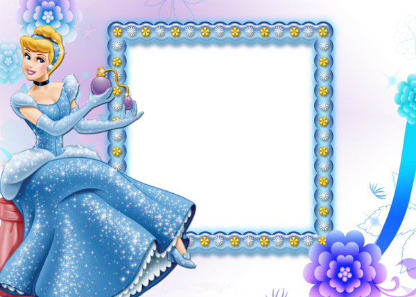 Beautiful Transparent Child Frame With Cinderella Download