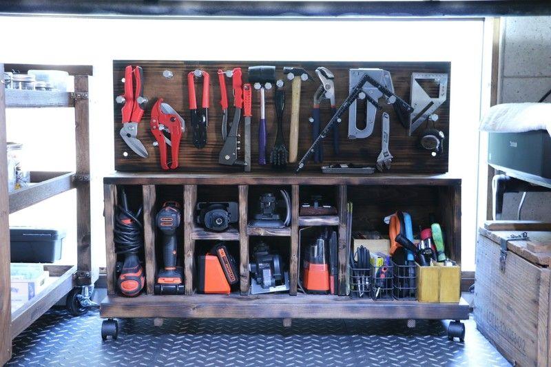 ごちゃごちゃしやすい工具を整理する棚をDIY|LIMIA (リミア)