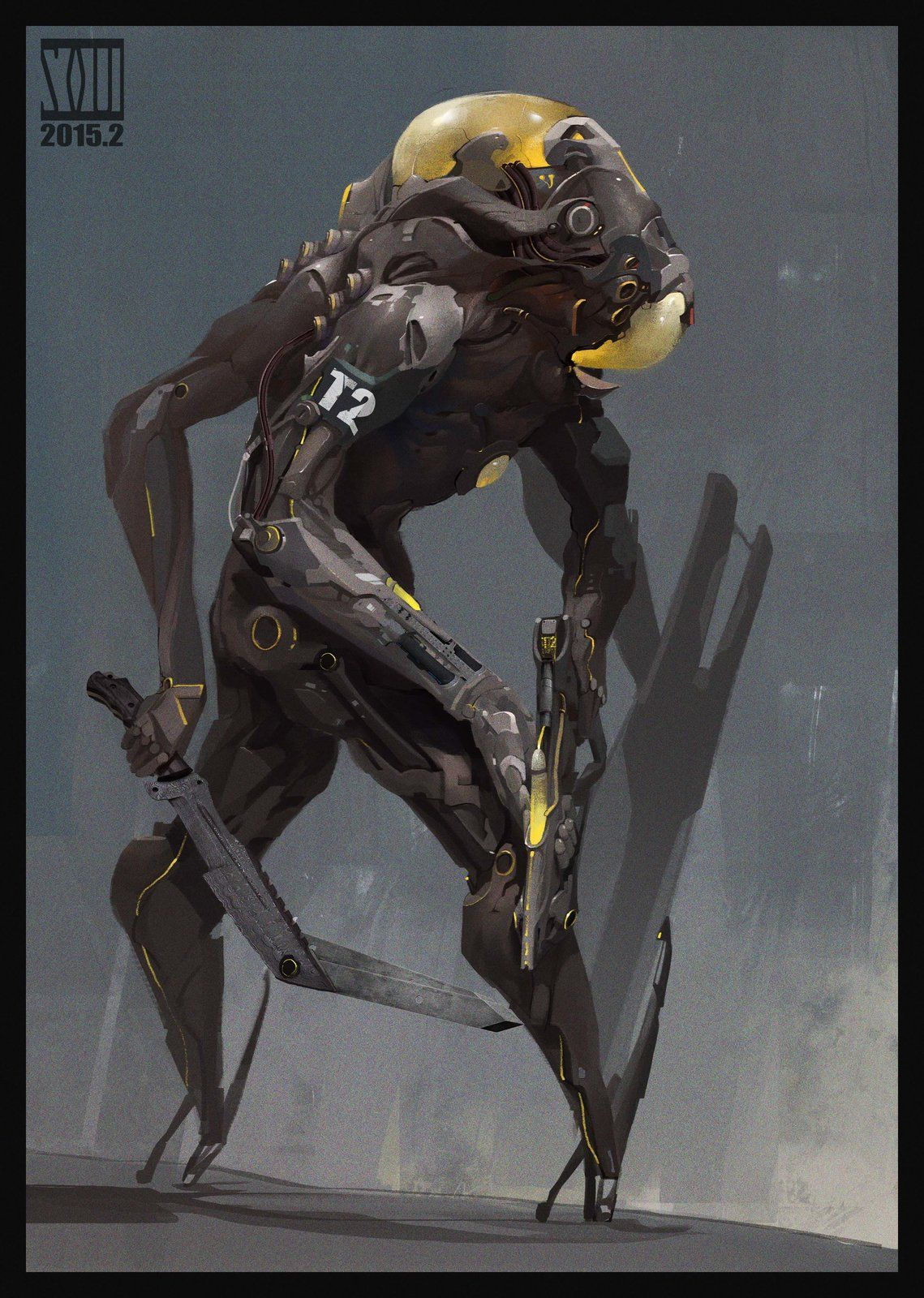 The biochemical soldier, mo xuan zhang on ArtStation at https://www.artstation.com/artwork/the-biochemical-soldier