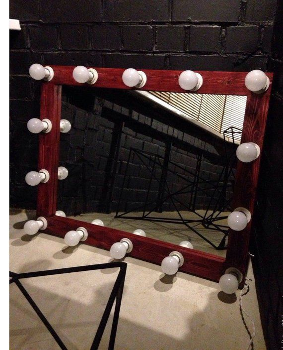 Wooden Vanity Mirror With Lights Hollywood Vanity Mirror Makeup