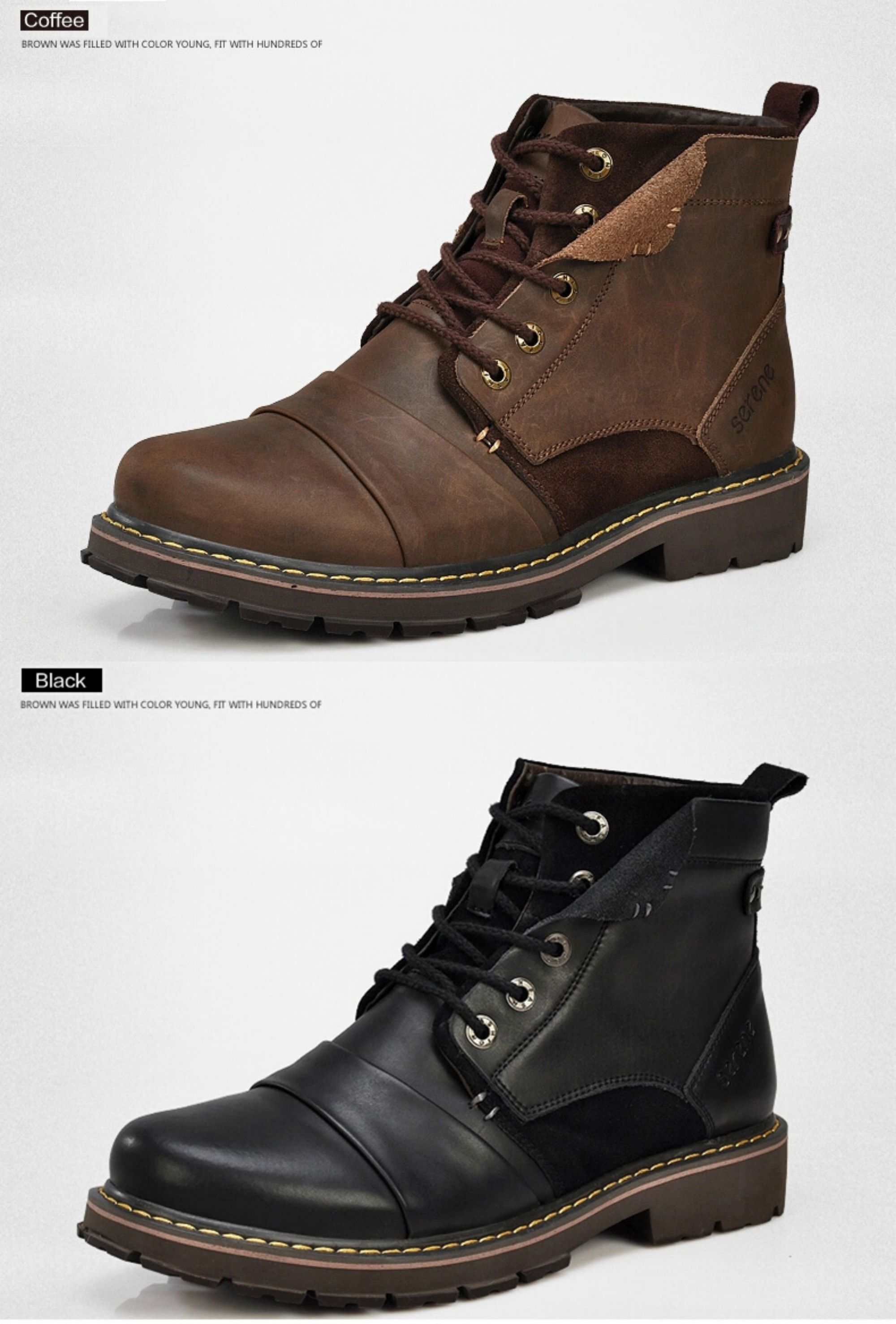 Man Confortevole Warm Für Fodera Leather Lacci Up Boots - Shoes JViUTngQo