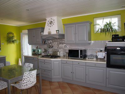la cuisine gris de sude mur anis deco pinterest cuisine - Tableau Cuisine Vert Anis