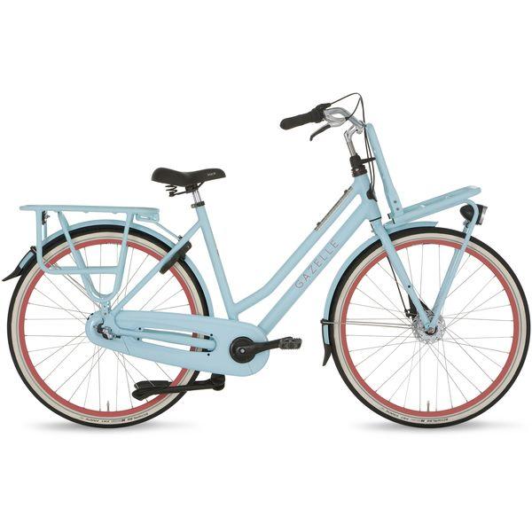 Gazelle Ladies Bike Heavydutynl 54cm 7v Matt Pale Blue Womens