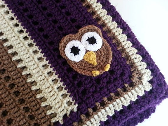Crochet Owl Baby Blanket Kids Pinterest Owl Baby Blankets