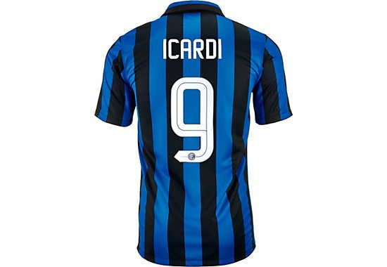 huge discount 8b184 c911a 2015/16 Nike Mauro Icardi Inter Home Jersey. Available at ...
