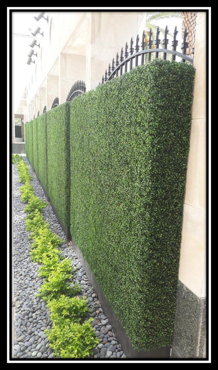 artificial boxwood hedge panels modern farmhouse décor on interior using artificial boxwood panels with flowers id=85281