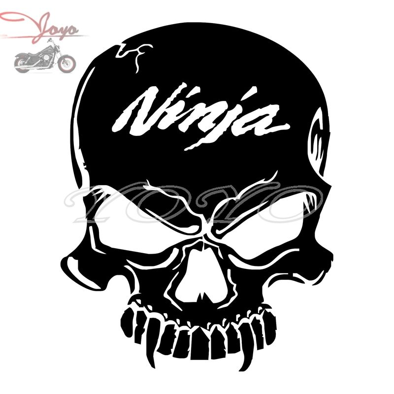 Ninja logo skull adhesive sticker decal fairing stickers for ninja ex250 ex300 ex400 zx6r 7r 9r