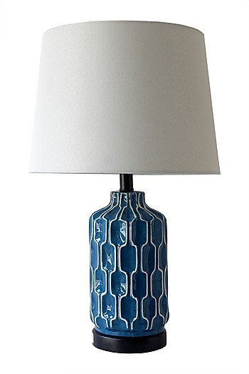 Bold Blue Patterned Table Lamp Design By Theos At Pernia S Pop Up Shop Lamp Table Lamp Table Lamp Design