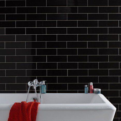 Faïence mur noir, Basic briquette l10 x L30 cm Chez Zoé Pinterest