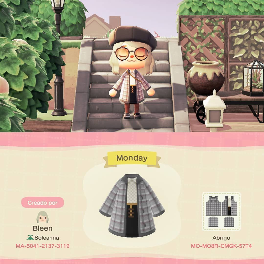"""✨ 【Bleen】 ✨ on Instagram: """"Hi! New custom design 🙌 This time is something casual, black & white vibes  Hope you like it! . . . . . #animalcrossingnewhorizons…"""""""