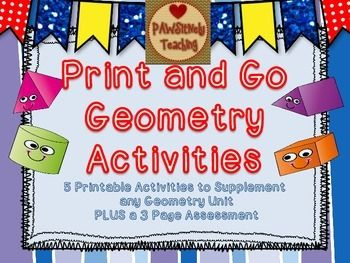 A Great Supplement to Any Geometry Unit!!!  Includes 5 activities and a printable review/assessment.  Only $2.00!!!!