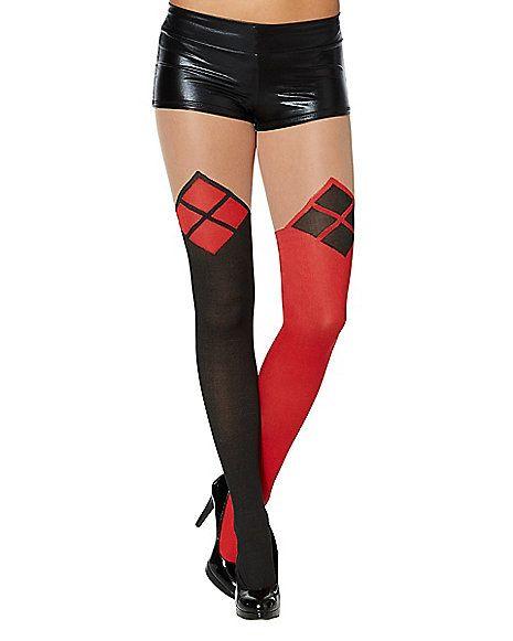 c257524e2cc Harley Quinn Faux Thigh Highs - DC Comics - Spirithalloween.com Bolsas