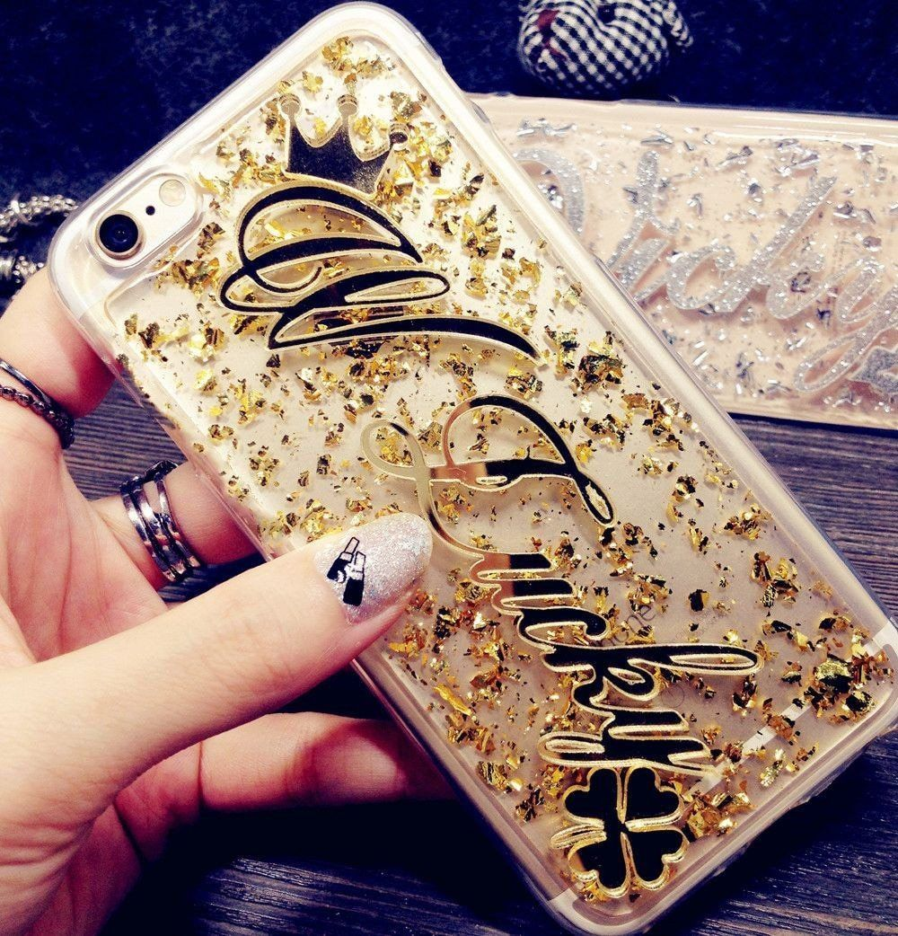 Customize Name Glitter phone case for Samsung