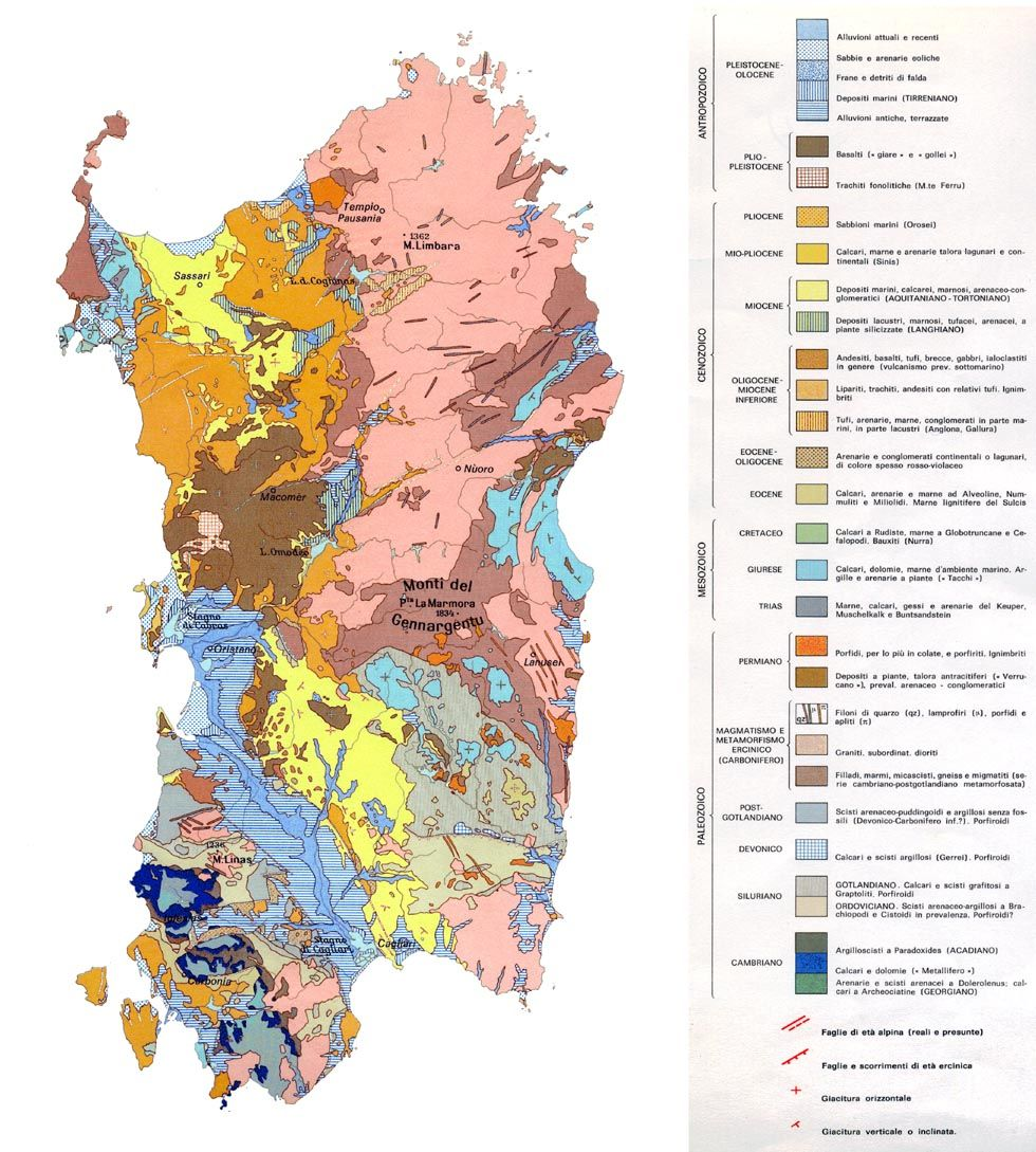 Geologia della Sardegna | Sardinia italy | Sardinia italy ...