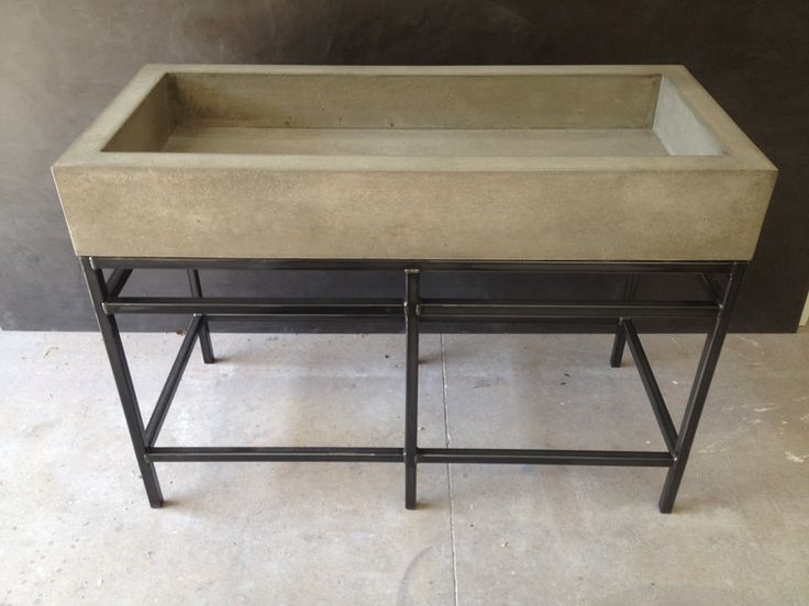 Concrete Farmhouse Trough Sink By Stogsconcretedesign On Etsy