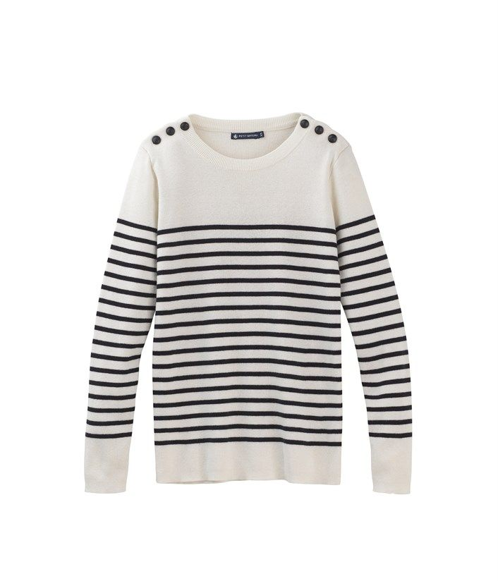 cacf90bc0 L'iconique pull marin femme en tricot de coton rayé | à la mode, à ...