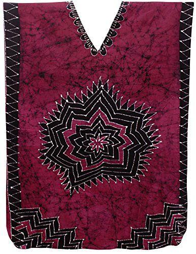 9dbee989ed LA LEELA Hand BatikWomens Cotton plus Cover up Lounge Sleep Night wear  Caftan Long Dress Pink ** Click image for more details. #MaternityJeans