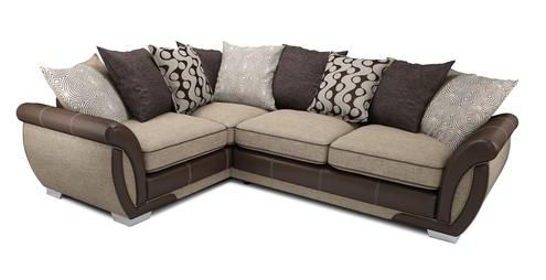 Corner Sofa Dfs Martinez Outlet Right Hand Facing 3 Seater Pillow Back Bed Shannon