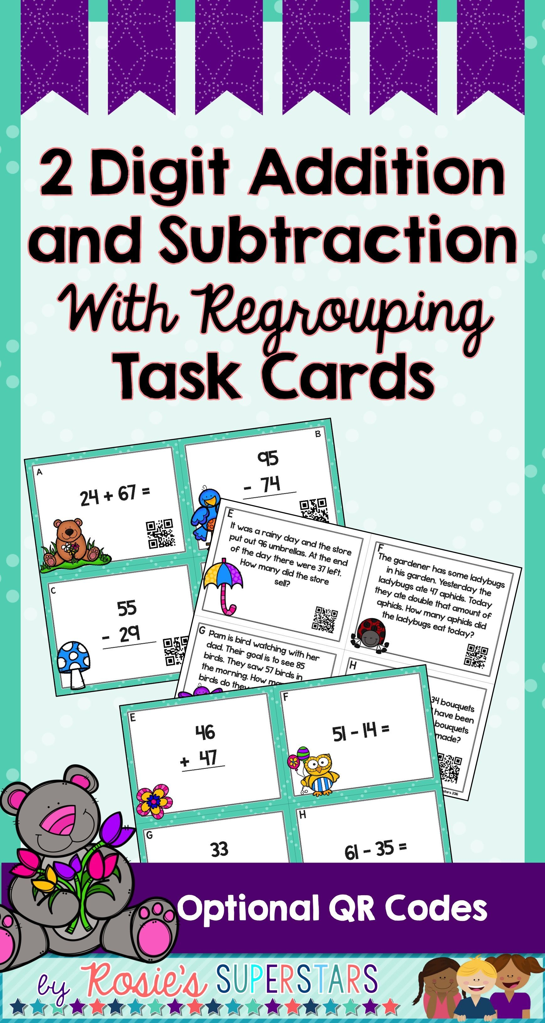 Double Digit Addition Amp Subtraction With Regrouping Task