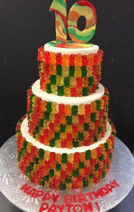 Gummy Bear Cake | Food in 2019 | Cake, Candy birthday cakes, Gummy ...
