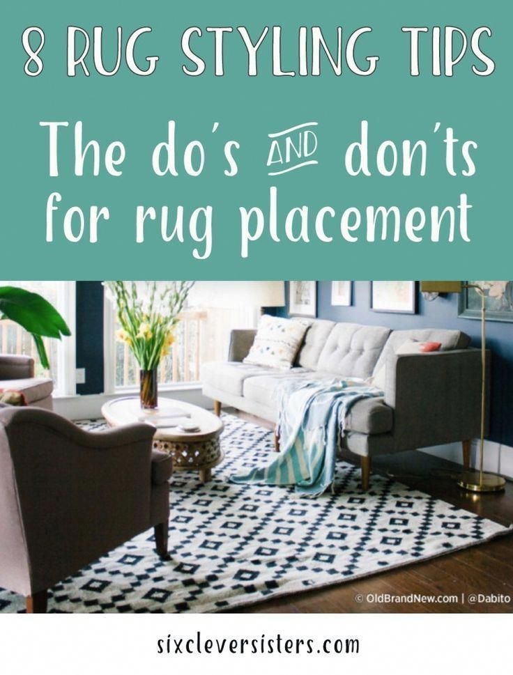 All the do's and don'ts of where to place rugs to give your home the best look! These great tips will help you with your home decorating ideas! #homedecor #rugs #decorate #rugstyle #homedecorating #forthehome #style #tips #howto #sixcleversisters #howtodecoratehome