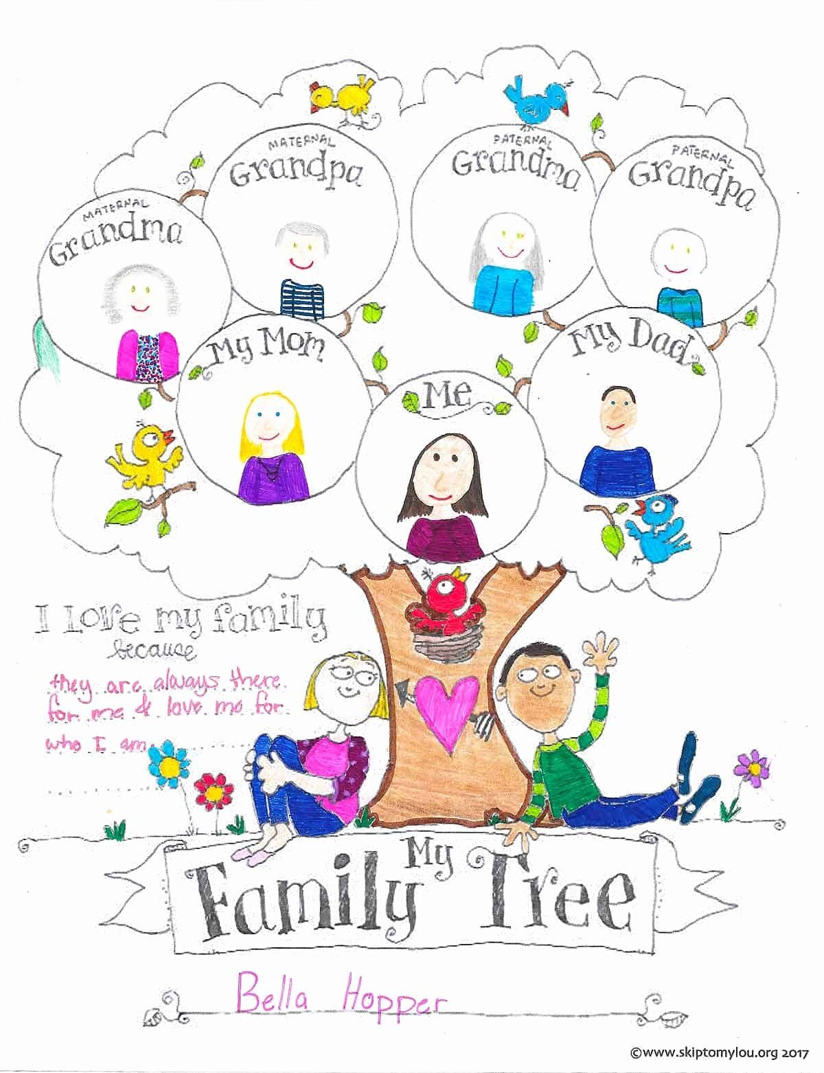 Free Printable Family Tree Elegant Free Printable Family Tree Coloring Page Family Tree Project Family Tree Craft Family Tree Activity